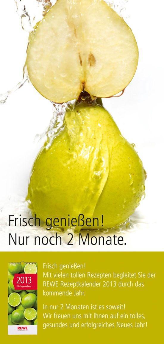 Birnen frisch genießen – die Anzeige für den REWE-Kalender 2013. Fotograf: Jörg Saibou, Köln.