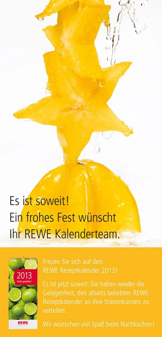 Sternfrucht frisch genießen – die anzeige für den REWE-Kalender 2013. Fotograf: Jörg Saibou, Köln.